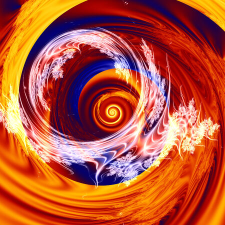 An illustration of a vortex of colors illustration