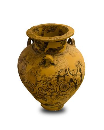 anforas: Antigua vasija griega aislado en fondo blanco Foto de archivo