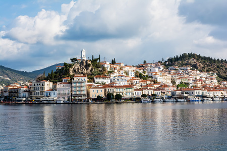 Greece, photo of the port of Poros island