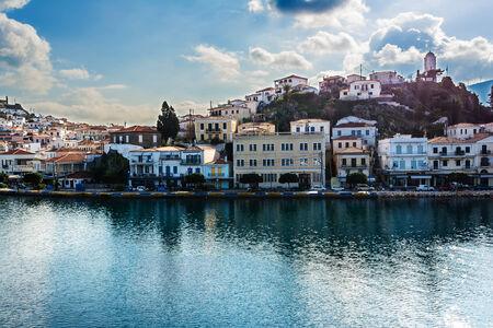 poros: Greece, photo of the port of Poros island