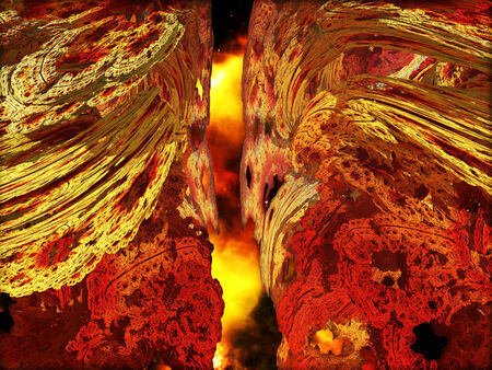 Hell Passage made of stones photo