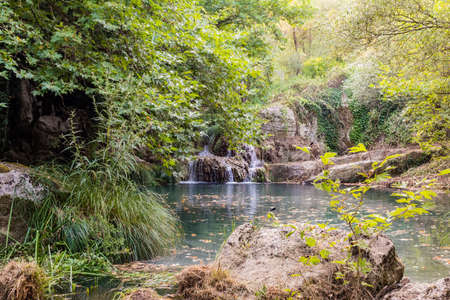 messinia: Mountain Lake and Waterfall. Greece, Messinia