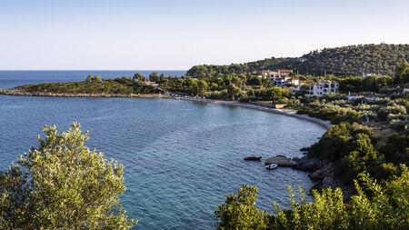 Steni Vala beach in Alonissos, Greece 免版税图像 - 31902084