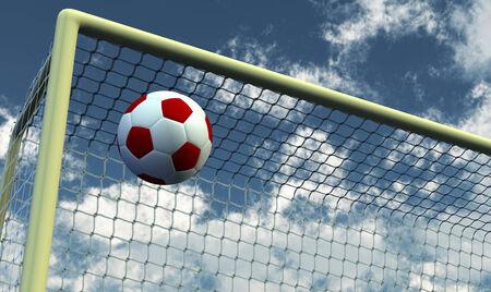 goalpost: Soccer foot ball moving to the goal net