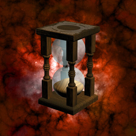 sand timer: The Begining of Time - A sand timer in the space