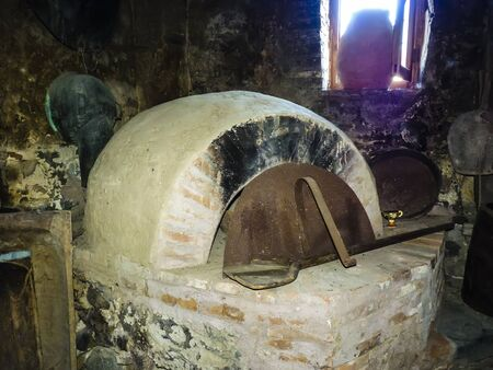 ���stone age���: Traditional old oven of stone age, Greece Stock Photo