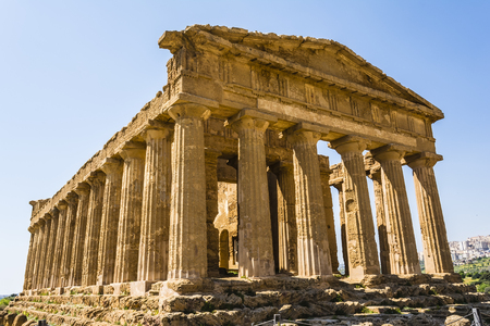 concordia: Temple of Concordia. Valley of the Temples at Agrigento on Sicily Italy
