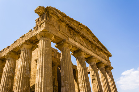 valley of the temples: Temple of Concordia. Valley of the Temples at Agrigento on Sicily Italy