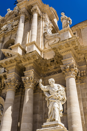 siracuse: Apostle statue in Cathedral church in Syracuse, Sicily, Italy