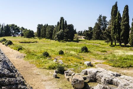 syracuse: Siracusa - Sicily, Italy. Photo of ancient ruins in Syracuse. Stock Photo