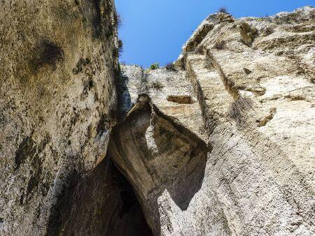 syracuse: The Ear of Dionysius near ancient Syracuse on Sicily Italy.