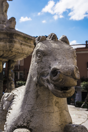 taormina: Taormina Fountain Horse by Vincenzo Cacopardo in Taormina Sicily Italy