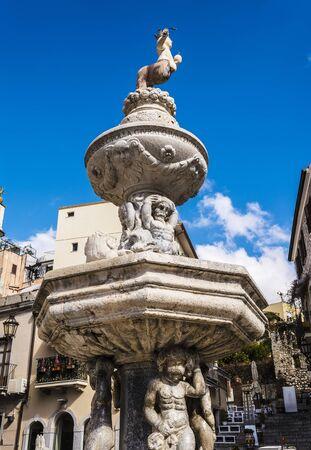 taormina: Old Fountain by Vincenzo Cacopardo in Taormina Sicily Italy