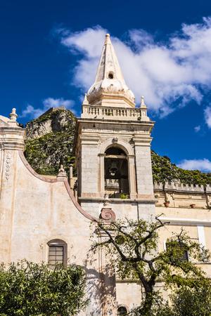 taormina: Old Church of San Giuseppi in Taormina Sicily Italy Stock Photo