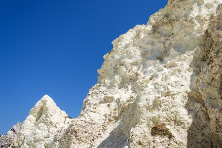 white rock: White Rock mineral formation near the sea of Sarakiniko area at Milos island, Greece