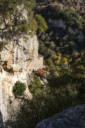 and arcadia: The monastery of Our Lady of Emialon at Dimitsana, Greece