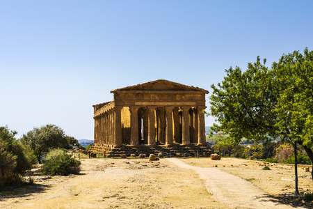 valley of the temples: Temple of Concordia. Valley of the Temples at Agrigento on Sicily, Italy