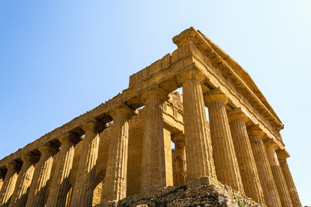 concordia: Temple of Concordia. Valley of the Temples at Agrigento on Sicily, Italy