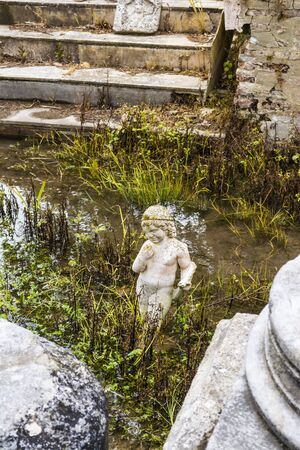 ancient philosophy: Archaic statue found at ancient Dion Archeological Site in Greece