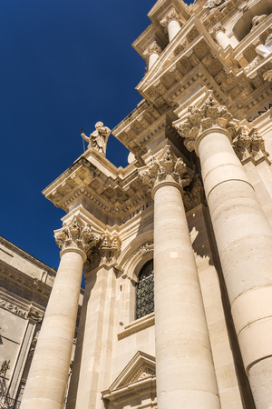 Duomo di Siracusa - Syracuse catholic cathedral church, Sicily, Italy Stock Photo