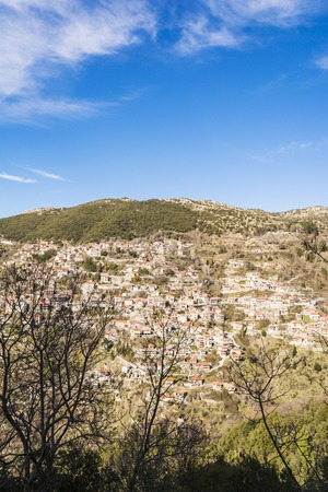 Picturesque mountain traditional village in Arcadia, Greece Stock Photo