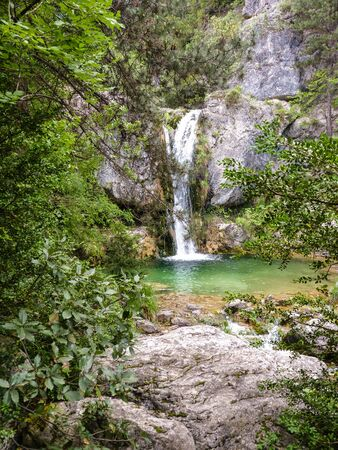 olympus: Ourlia forest waterfalls at Olympus mountain, Greece