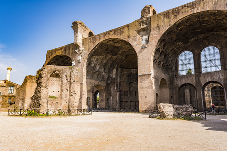 The Basilica of Constantine and Maxentius in the Roman Forum