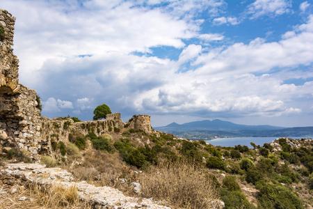 Palaiokastro castle of ancient Pylos. Greece