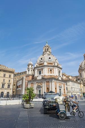 Roman landmarks, Piazza Venezia, Rome, Italy