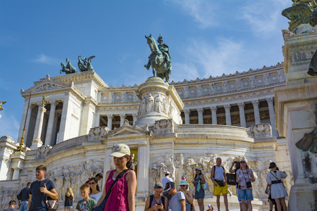 Altar of the Fatherland, Altare della Patria, at Piazza Venezia in Rome, Italy