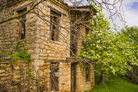 Abandoned old village house Stock Photo - 99619655