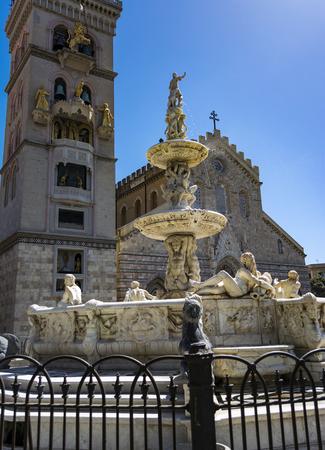 Messina Duomo Cathedral view, Italy Sicily Foto de archivo
