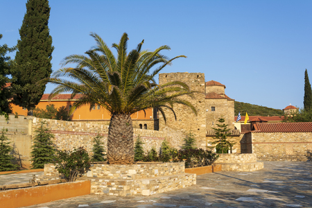 View of Orthodox Holy Monastery of Pantokrator-Tao Ntaou Penteli