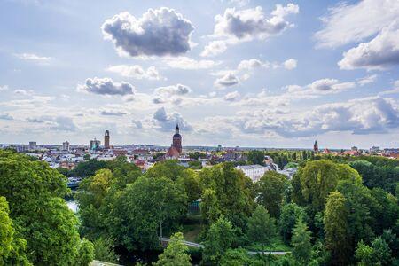 Old town Berlin Spandau panoramic view, Germany.