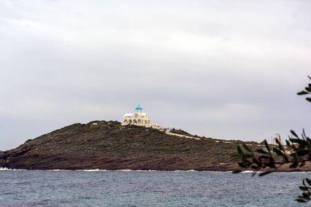 Remote view of Church of Profitis Ilias in Keratea, Greece