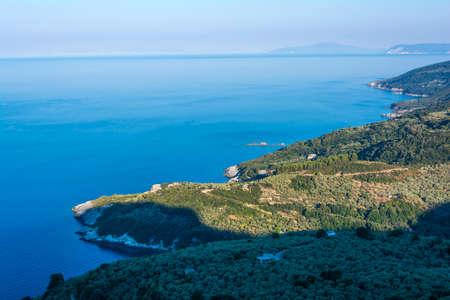 Shoreline in Pelion at Greece. Seascape. 免版税图像 - 154933462
