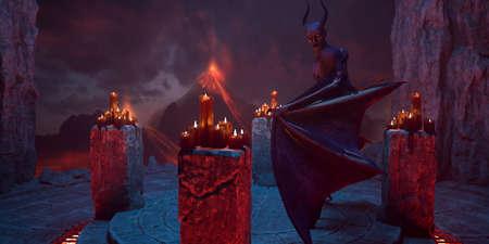 Fallen angel satan in hell