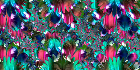 Abstract of the fractal with multiple colors
