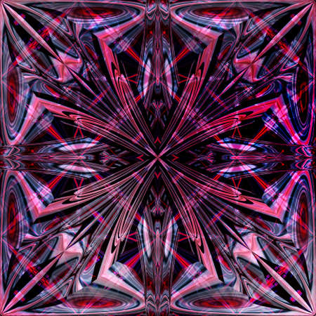 Symmetrical fractal pattern. Computer generated graphics. 免版税图像
