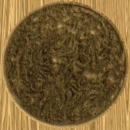 Yellow circle illustration symbol. Abstract texture.