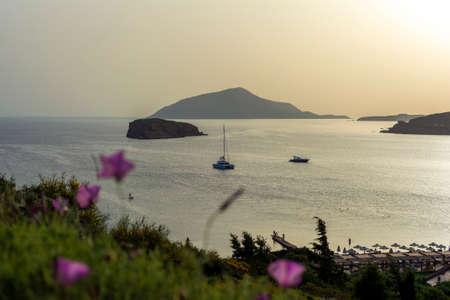Beautiful sunset in athens region. Greece sea sunset 免版税图像 - 159370123