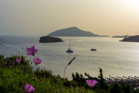 Beautiful sunset in athens region. Greece sea sunset 免版税图像 - 159369580
