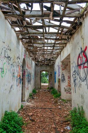 An abandoned old villa at Pallini, Greece