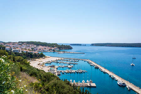 View of Pylos historically also known under its Italian name Navarino, is a town in Messenia, Peloponnese, Greece
