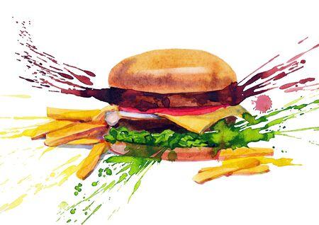 sandwich white background: tasty sandwich