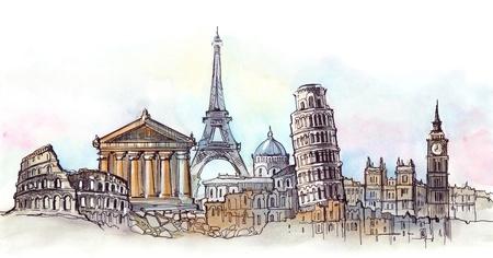 pisa: wereld bezienswaardigheden panorama (serie C)