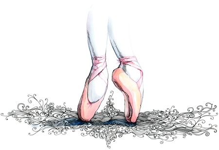 ballet slippers: balet dancer (series C) Stock Photo