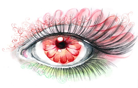 human eye with flower (series C) photo