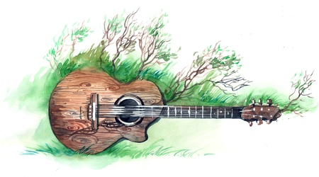 folk music: wooden guitar (series C)