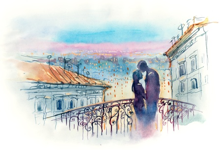 loving couple in the city (series C) photo